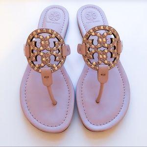 Tory Burch Miller Blush Pink Embellished Sandals